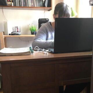 Postazione #smartworking collaudata anche con passaggio di gatti sul pc. Se la rete regge, affronteremo anche questo periodo. #psicologiaonline